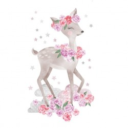 Sticker Biche - Rose ou Bleu