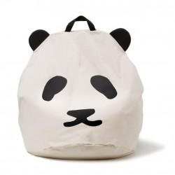 Pouf enfant Panda - Noir