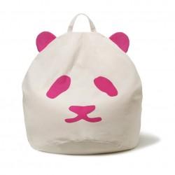 Pouf enfant Panda - rose