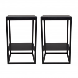 2 consoles - Tables de chevet noires