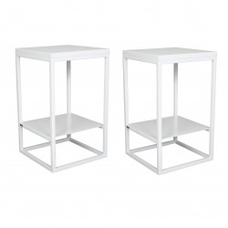 2 consoles - Tables de chevet blanches