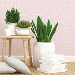 Papier peint rose et blanc - Cocottes