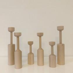 3 chandeliers en bois