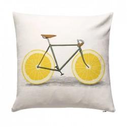 Coussin 50 x 50 - Velo citron
