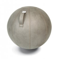 Assise ballon simili cuir - Gris clair