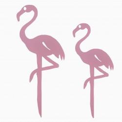 Etiquette de jardin - Flamant rose
