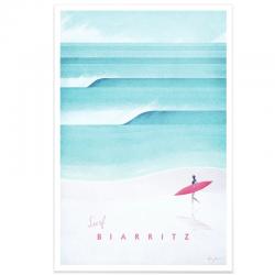 Affiche - Surf Biarritz