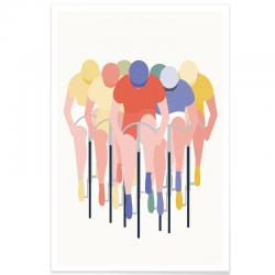 Affiche Cyclisme - Peloton
