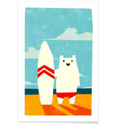 Affiche Surf - Kids