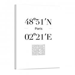 Toile GPS - Paris