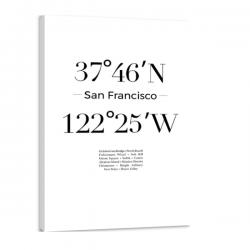 Toile GPS - San Fransisco