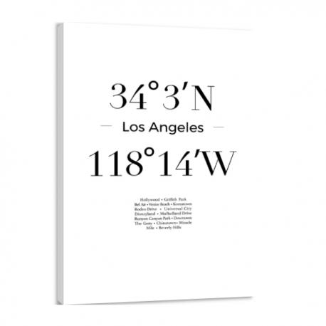 Toile GPS - Los Angeles