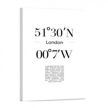 Toile GPS - London