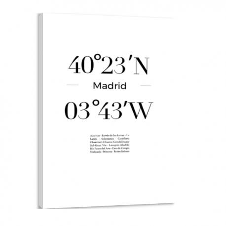 Toile GPS - Madrid