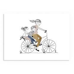 Affiche Balade à vélo - Nous trois