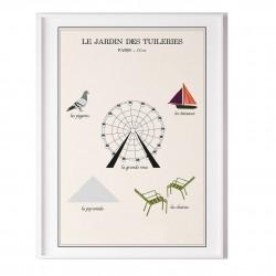 Affiche - Le jardin des Tuileries