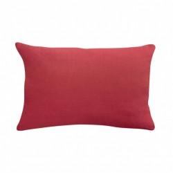 Taie d'oreiller en lin - Rouge corail