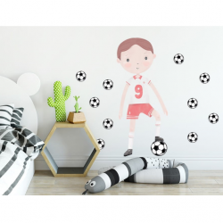 Sticker XXL - Footballeur