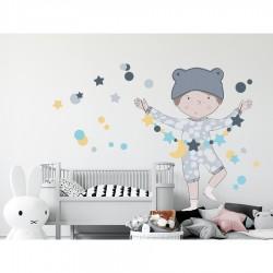 Sticker mural XXL - Le magicien bleu