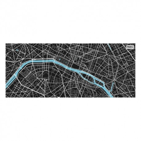 Tapis vinyle - Map Paris