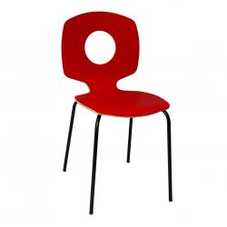 Chaise rouge - Entêtée