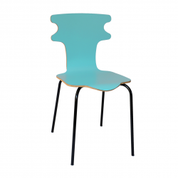 Chaise bleue - Coquette