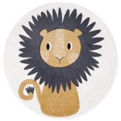 Tapis rond Lion
