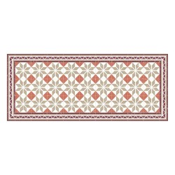 Tapis vinyle - Carreaux Ciment Terracota