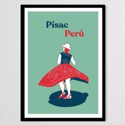 Affiche Chola Péruvienne - Pisac
