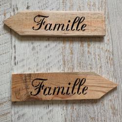 Flèche en bois - Famille