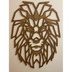 Sculpture murale en bois - Lion