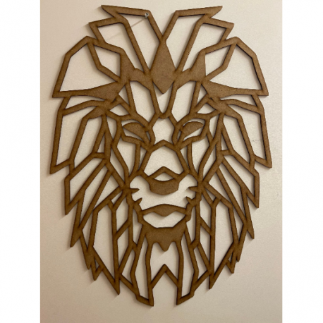 Sculpture murale en bois - Lion