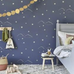 Papier peint ciel étoilé - Fond bleu