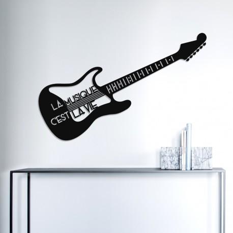 Déco murale indoor/outdoor - Guitare