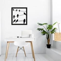 Déco murale indoor/outdoor - Cadre oiseaux