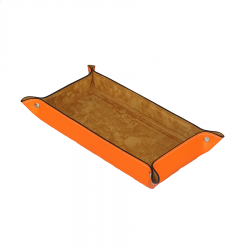 Vide poche en cuir rectangulaire - Orange