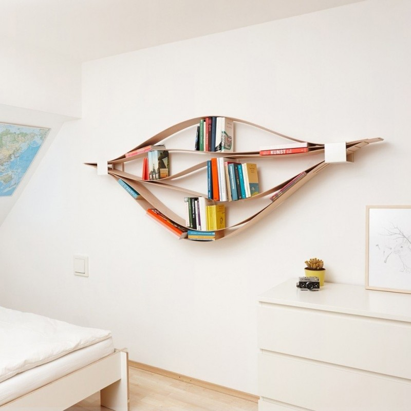 biblioth que chuck blanche modulable pour livres et. Black Bedroom Furniture Sets. Home Design Ideas