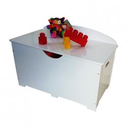 Coffre à jouet en bois - Blanc