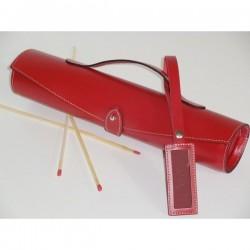 Trousse à alumettes en cuir - Rouge