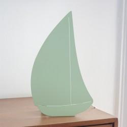 Lampe double fonction - Bateau vert