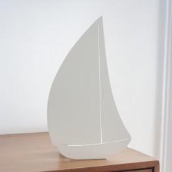 Lampe double fonction - Bateau blanc