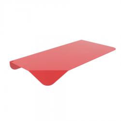 Etagère rouge en métal