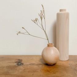 Vases en bois en duo