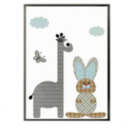 Affiche SDB - Girafe et lapin
