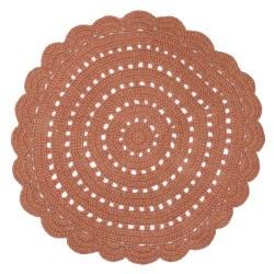Tapis crocheté - Terracota