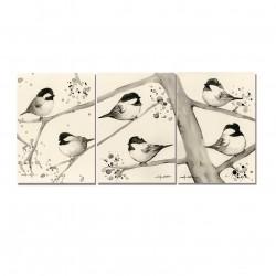 Cartes en triptic - Mésanges