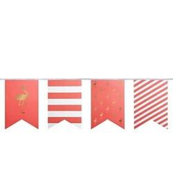 Banderole drapeaux de fête - Flamingo