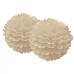Pompons dentelles - Beige
