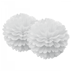 Pompons dentelles - Blanc