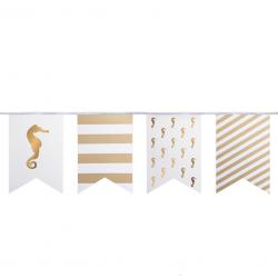 Banderole drapeaux de fête - Hyppocampe